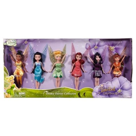 disney fairies 9 fashion doll 6 pack disney fairies tinker bell and the great