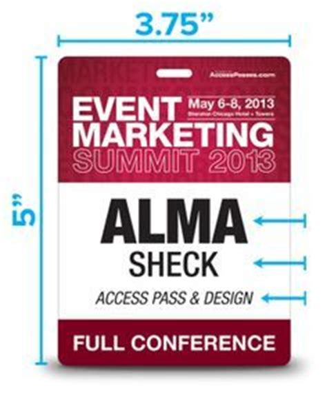convention card holder template aiga pivot conference badges meet potatoes meetings
