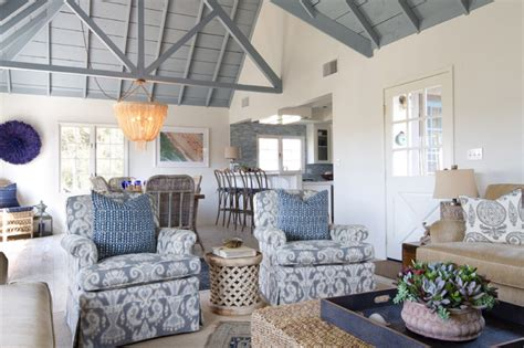 Coastal Style Homes by Beach Cottage In Oceanside Beach Style Family Room San Diego By Charmean Neithart