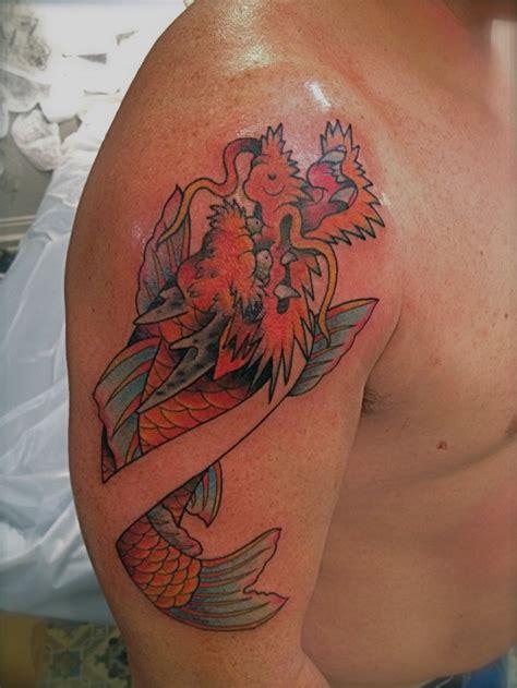 koi tattoo head koi fish dragon head tattoo