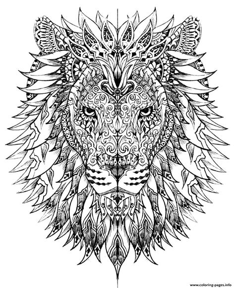 coloring pages for adults very difficult adult difficult lion head coloring pages printable