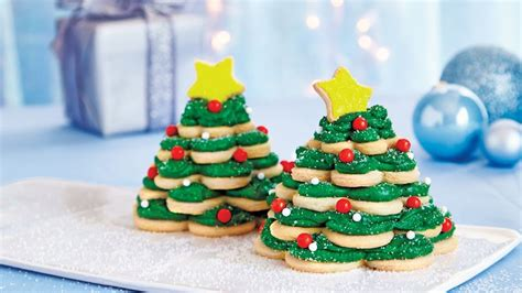 christmas tree snack by pilsbury cookie trees recipe pillsbury