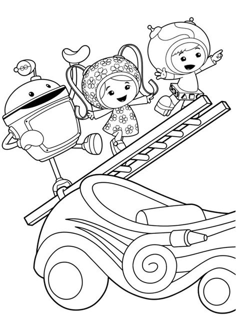 free printable team umizoomi coloring pages for
