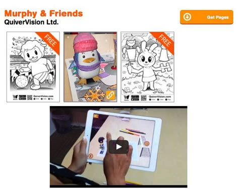 murphy and friends augmented reality coloring pages