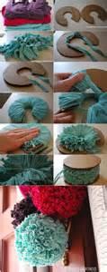 Handmade Pom Poms - pom poms jersey fabric pompoms diy crafty handmade