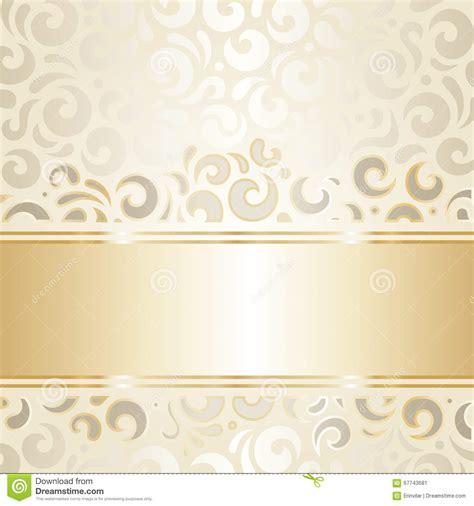 Wedding Logo Background by Retro Wedding Wallpaper Design Ecru Gold Stock Vector