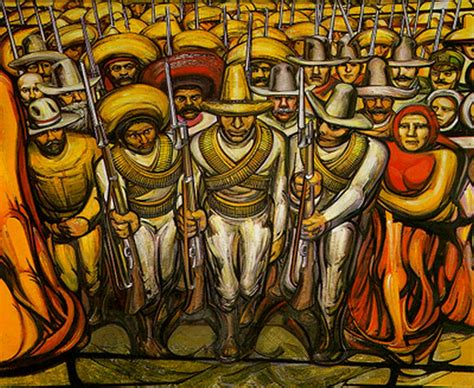 Murales De David Alfaro Siqueiros   art attack la marcha de la humanidad en la tierra y hacia