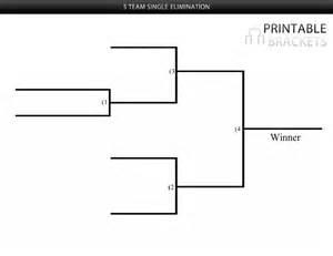 elimination tournament bracket template 5 team single elimination bracket printable brackets