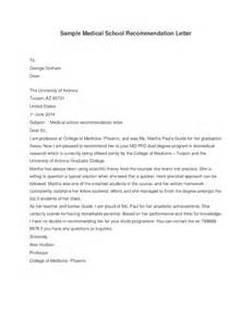Recommendation Letter Med School Sle School Recommendation Letter Hashdoc