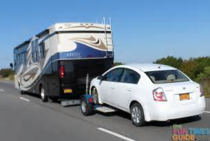 rv towing tips 3 ways to tow a car behind your motorhome