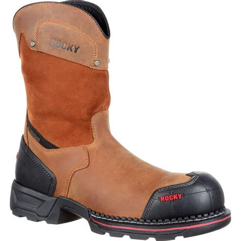 composite work boots rocky maxx s pull on composite toe waterproof work boots