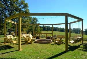 Pergola Fire Pit by Remodelaholic Tutorial Build An Amazing Diy Pergola And