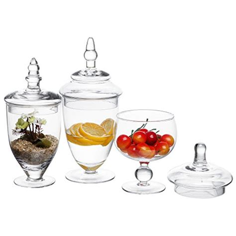 decorative apothecary jars 3 set decorative clear glass apothecary jars