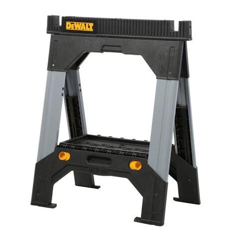 dewalt table saw legs dewalt 33 in folding sawhorse with adjustable metal legs