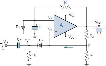 op capacitor circuit op monostable and the op monostable circuit