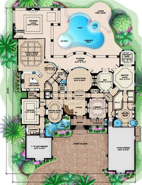 mediterranean mansion floor plans 4 bedroom 7 bath mediterranean house plan alp 08cc