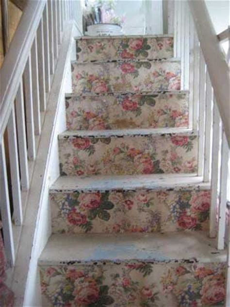 Decoupage Stairs - decoraci 243 n de interiores estilo shabby chic mil ideas