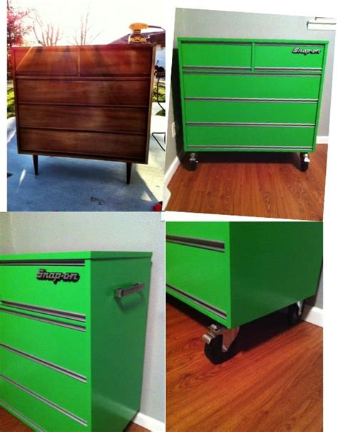 Tool Box Dresser by Before And After Tool Chest Dresser Diy Home Decor Ideas