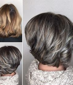 platinum blonde over salt and pepper lowlights and highlights to soften the transition to grey