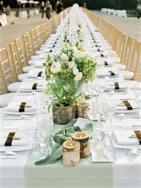 bryllupsbord pyntet