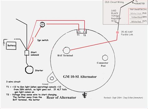 wiring diagram for 3 wire gm alternator image collections