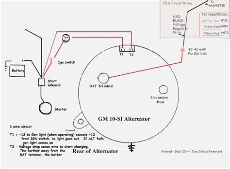 3 wire delco alternator wiring diagram tach wire wiring