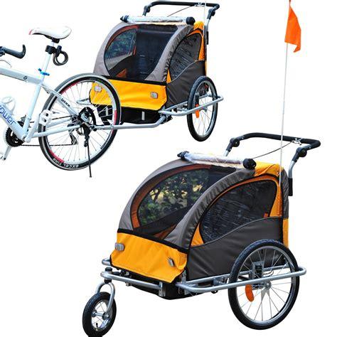 rimorchio porta bimbi per bici outsunny rimorchio passeggino portabimbi per bicicletta