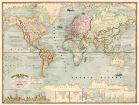 vintage maps restored vintage maps map of the world author antonio