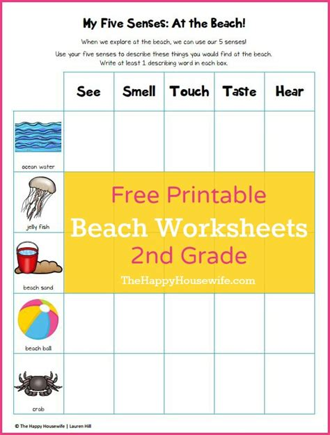 beach themed language arts activities beach worksheets free printables the happy housewife