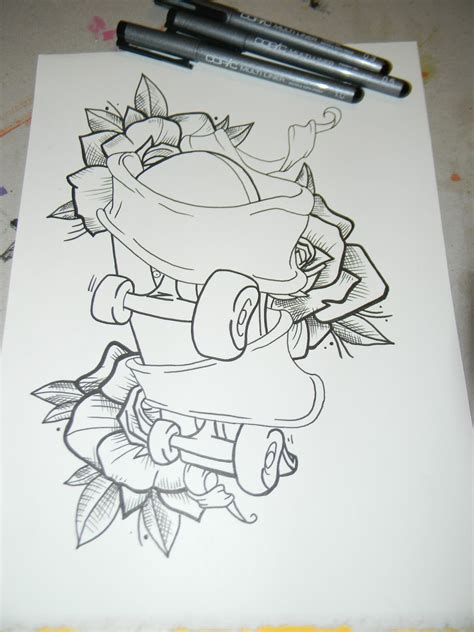 skateboard tattoo designs skateboard drawings of muecke tattoos custom