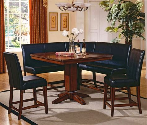 Kitchen Nook Furniture Set Corner Nook Kitchen Table Excellent Furniture Kitchen Nook With Black Leather Counter Height