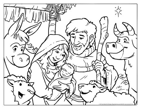 free coloring page of the nativity nativity coloring pages