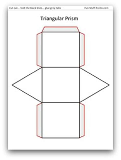 How To Make A Triangular Prism Out Of Paper - best photos of triangular prism net template triangular