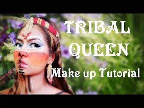 tutorial make up viva quen tribal queen make up tutorial ราช น แห งข นเขา youtube