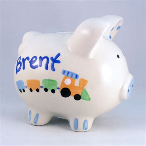 painted piggy banks painted piggy bank custom baby gift baby shower gift