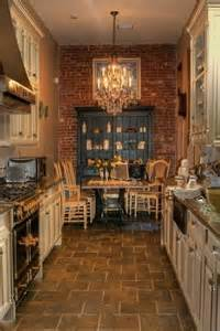 Floor Ideas For Kitchen Love This Kitchen Rustic Design Galley Kitchen Floor