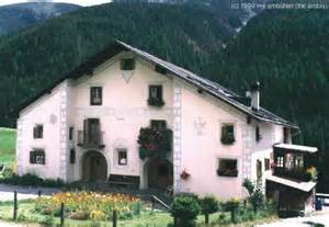 homes of the houses of the engadina switzerland
