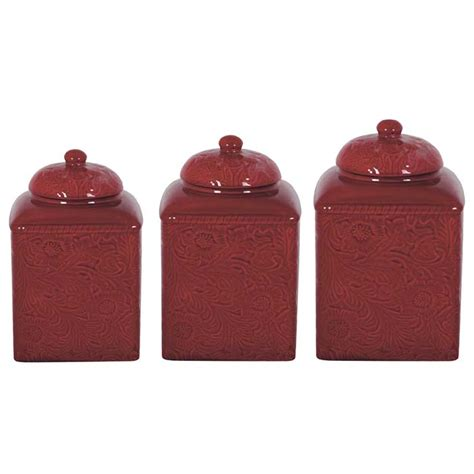 western kitchen canister sets red western canister set western kitchen and dining decor