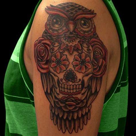 owl and skull tattoo meaning owl sugar skull meaningdenenasvalencia