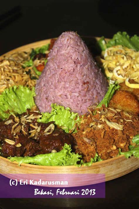 cara pembuatan nasi uduk ungu tanpa telur nasi uduk ubi ungu