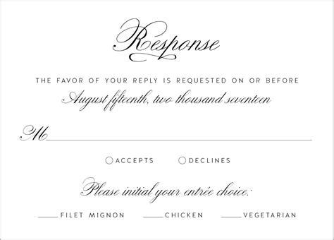 beautiful rsvp wedding card wording ideas styles ideas 2018