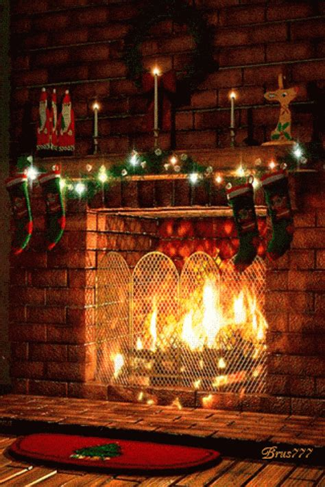 merry christmas fireplace animated gif speakgif