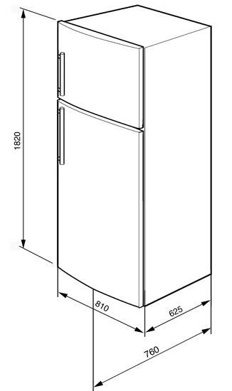Réfrigérateur 2 Portes Smeg FD54PXNE3 Electromenager Grossiste