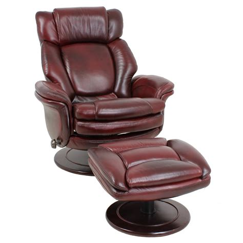 leather recliner lounge barcalounger lumina ii recliner chair and ottoman