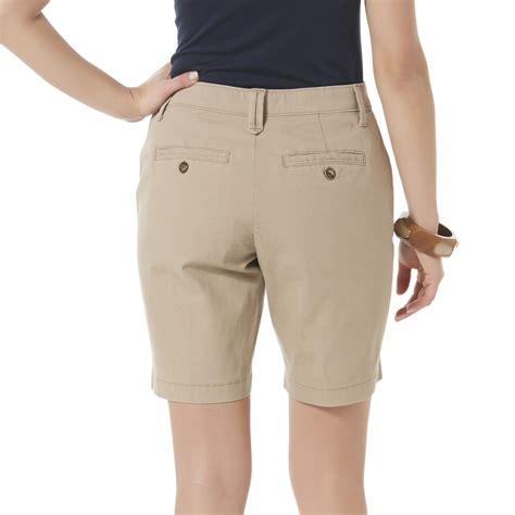 lee comfort fit shorts lee petite s comfort fit bermuda shorts sears