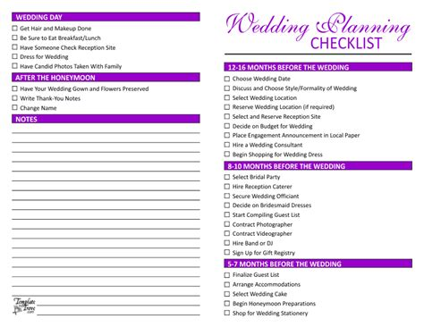 printable wedding decor checklist wedding planning checklist