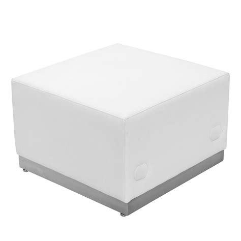 ottoman series flash furniture hercules alon series white leather ottoman
