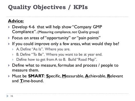 quality objectives template a practical approach to implementing ich q10