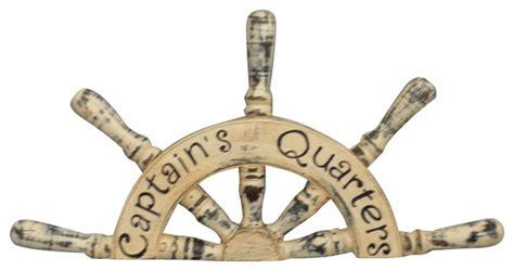 wooden captain s quarters ship wheel plaque decor 19
