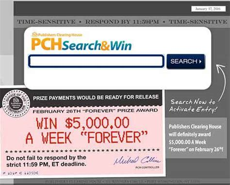Sweepstakes Clearinghouse Products - pch 100 000 sweepstakes giveaway no 6085